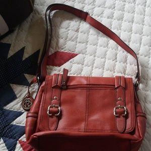 Relic orange faux leather shoulder purse